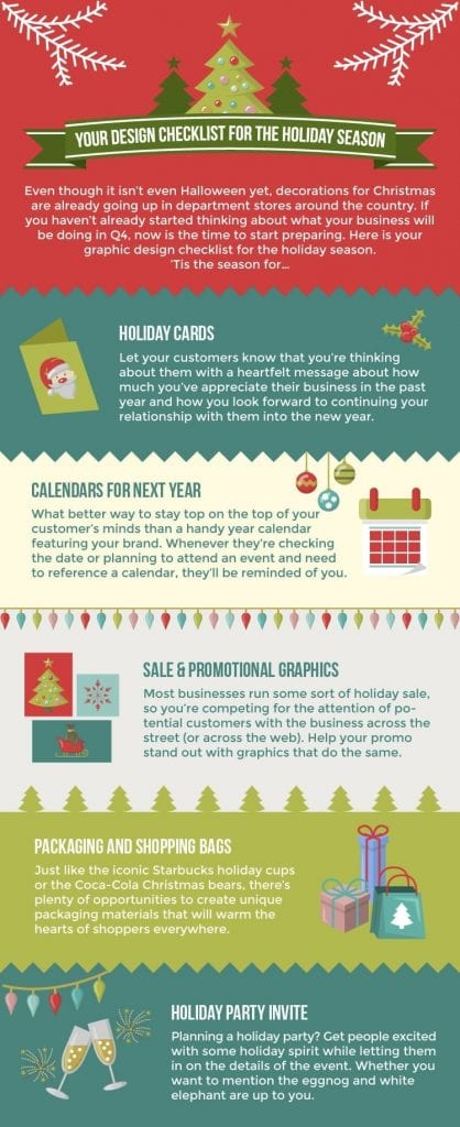 holiday design infographic
